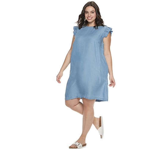 POPSUGAR Ruffle Sleeve Dress
