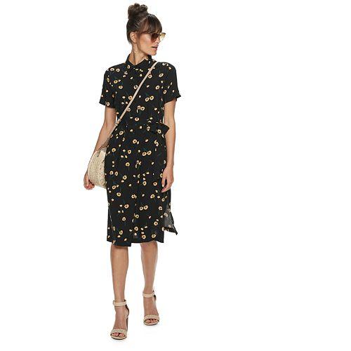 POPSUGAR Printed Midi Dress