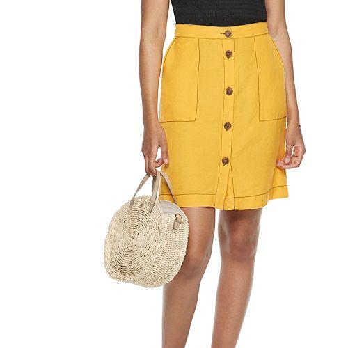Women's POPSUGAR Button-Up Mini Skirt