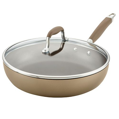 Anolon Advanced Home Hard-Anodized Nonstick 12-in. Deep Skillet