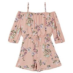 ff952af652d Girls 7-16 IZ Amy Byer Floral Cold-Shoulder Romper