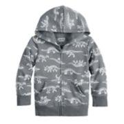Toddler Boy Jumping Beans® Dinosaur Zip Hoodie