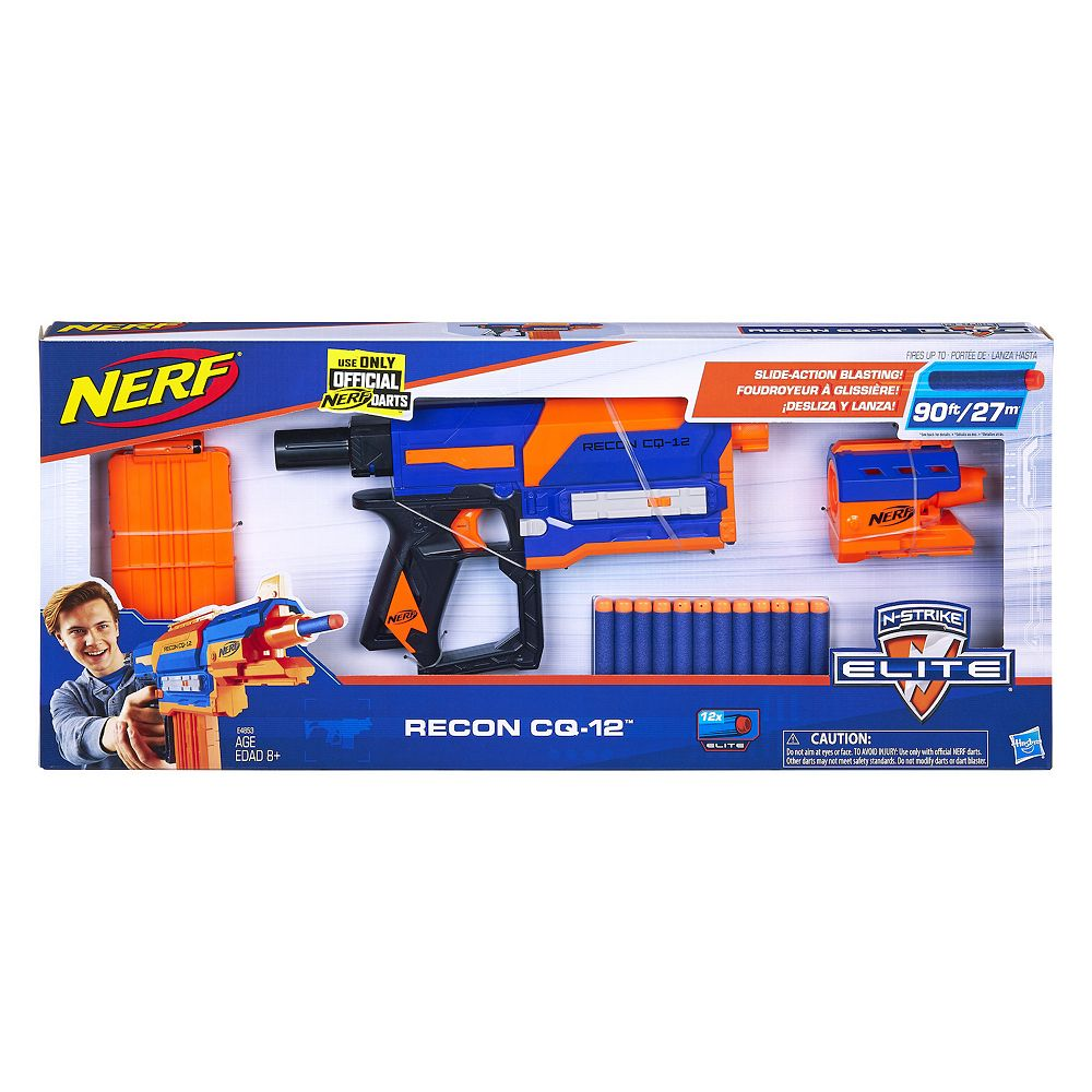 Nerf Recon CQ-12 Elite Blaster with 12 Official Nerf Elite Darts