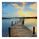 Fine Art Canvas Sunset Pier by Studio Arts