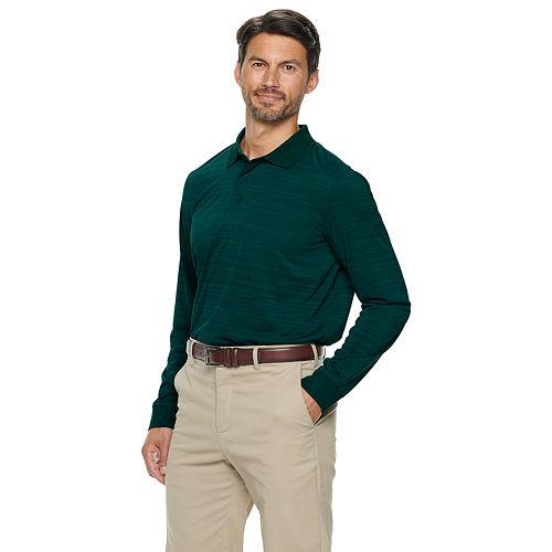 Men's Croft & Barrow® Long Sleeve Space Dye Polo