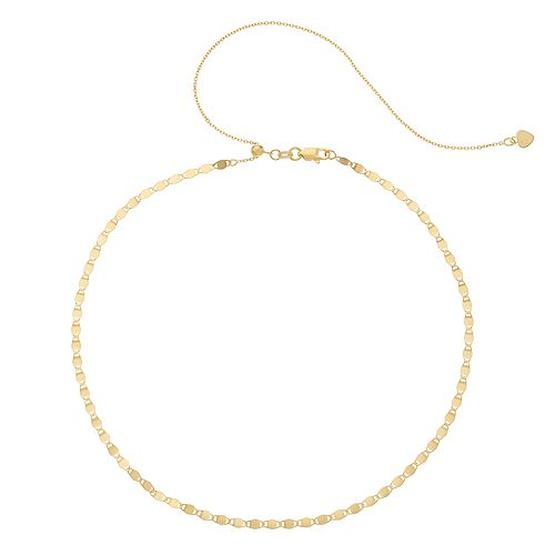 14k Gold Valentino Chain Choker Necklace by Unbranded