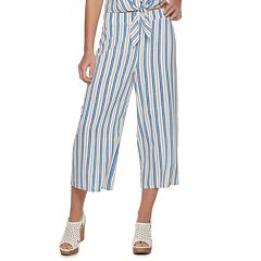 2ba5fe12e Juniors' Candie's® Pull On Patterned Capri Pants. Stripe Pink Floral