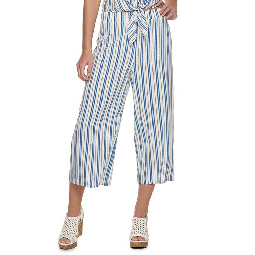 Juniors' Candie's® Pull On Patterned Capri Pants
