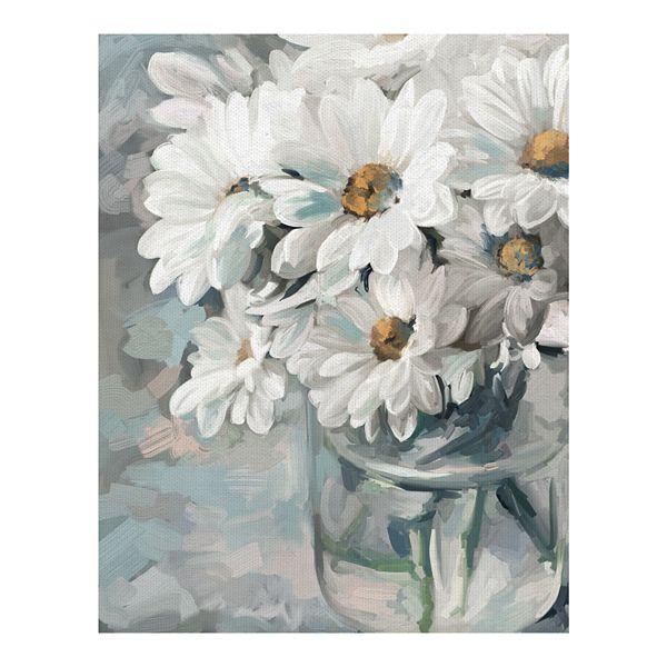 Fine Art Canvas Mason Jar Bouquet Ii By Studio Arts Wall Art