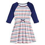 Girls 6-16 & Plus Size SO® Raglan Varsity Dress
