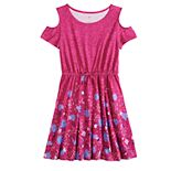 Girls 7-16 & Plus Size SO® Cold-Shoulder Fit & Flare Dress