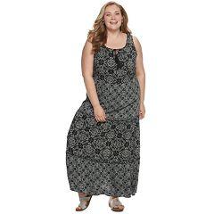 Plus Size EVRI Tiered Maxi Dress