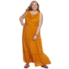 Plus Size EVRI Tiered Maxi Dress