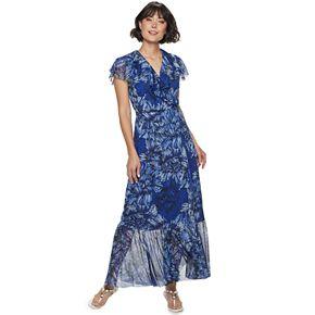 Petite Apt. 9® Ruffle Wrap Dress
