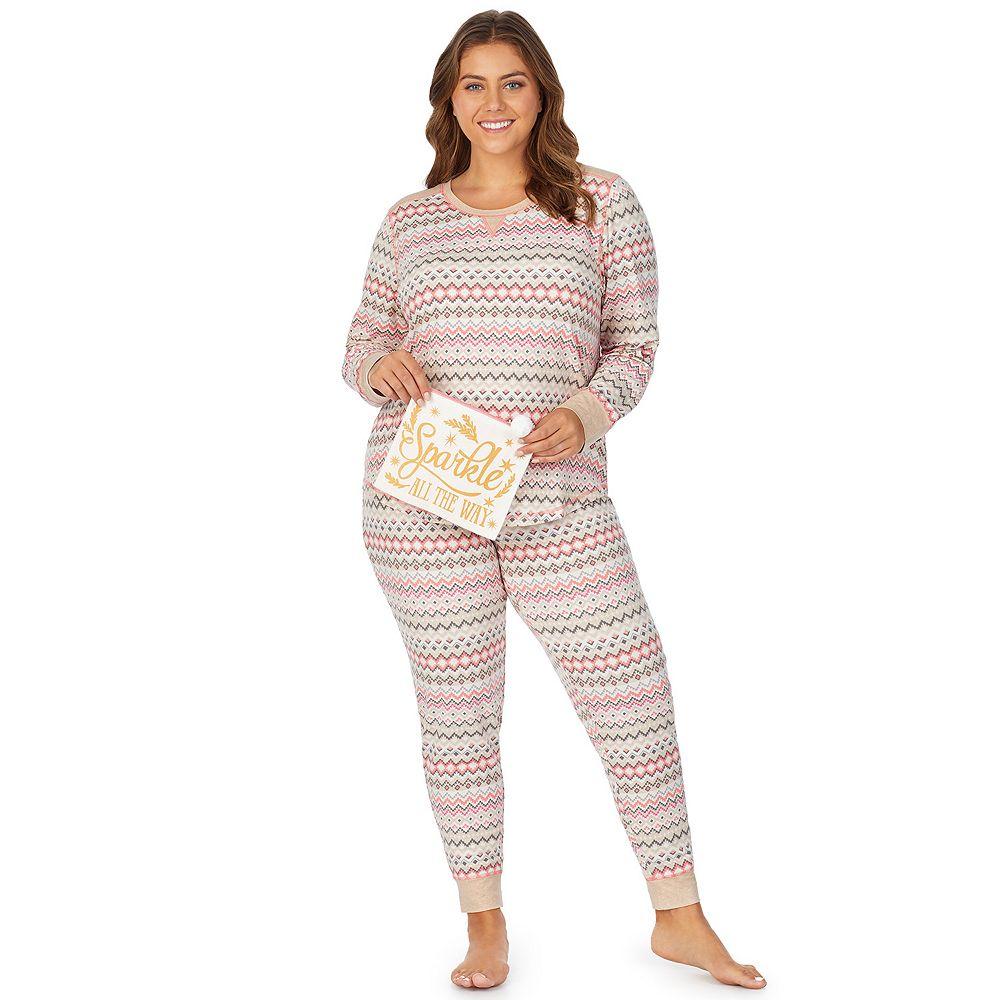 Plus Size Cuddl Duds 3-Piece Pajama Set