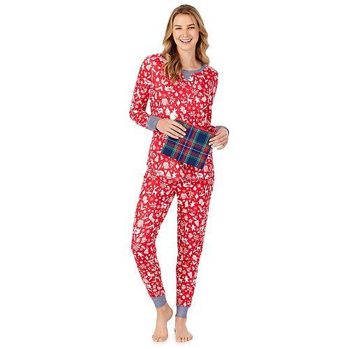 Petite Cuddl Duds 3-Piece Pajama Set