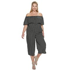 6637ad6444ca Plus Size Jennifer Lopez Striped Convertible Off-the-Shoulder Top