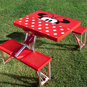 Disney's Minnie Mouse Portable Folding Table with Seats by Picnic Time