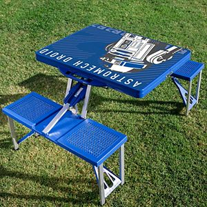 Star Wars R2-D2 Portable Folding Table with Seats by Picnic Time