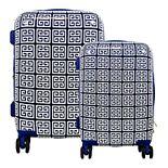 Macbeth Collection Geo Print 2-Piece Hardside Spinner Luggage Set