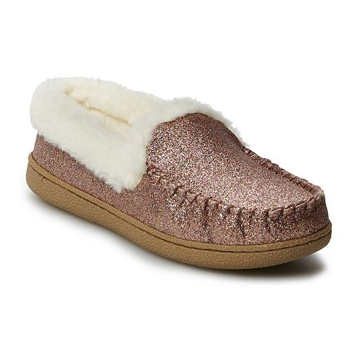 Women's SONOMA Goods for Life™ Sugar Glitter Moccasin Slippers