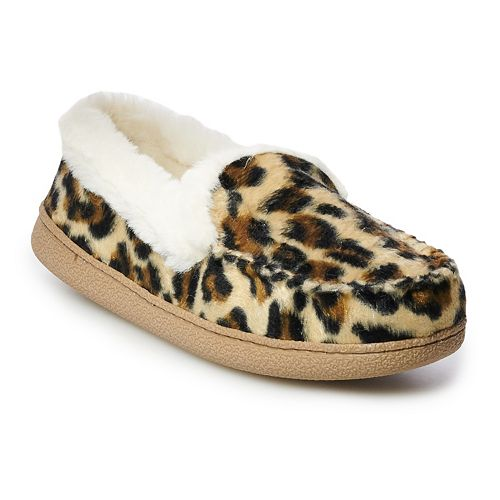 Women's SONOMA Goods for Life™ Leopard Moccasin Slippers