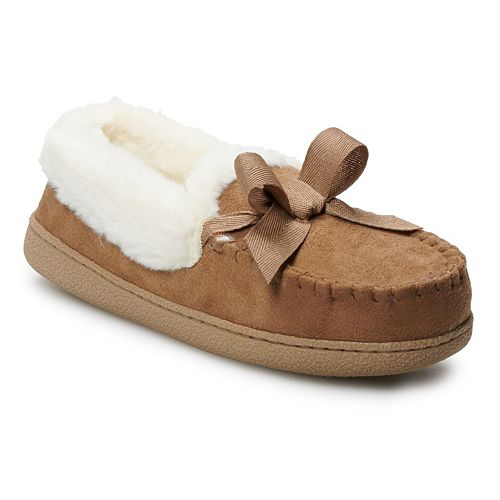 Women's Sonoma Goods For Life™ Microsuede Moccasin Slippers by Sonoma Goods For Life