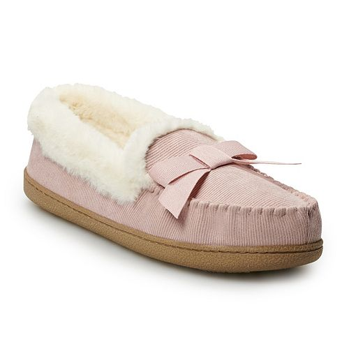 Women's SONOMA Goods for Life™ Corduroy Moccasin Slippers