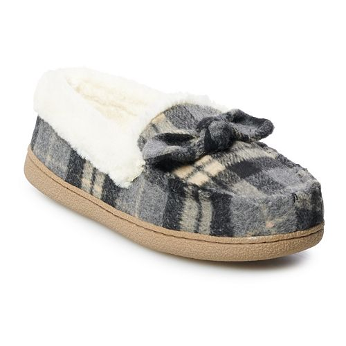 Women's SONOMA Goods for Life™ Plaid Moccasin Slippers