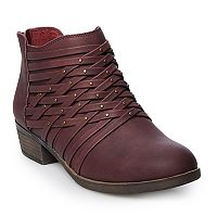 Deals on SO Redfield Womens Ankle Boots