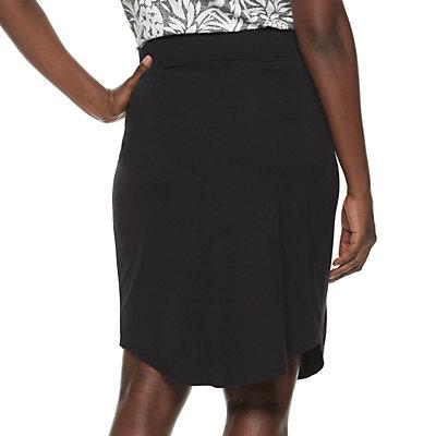 Womens Croft & Barrow® Dolphin Hem Knit Skirt
