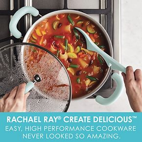 Rachael Ray Create Delicious Aluminum Nonstick 6-qt. Stockpot