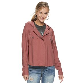 Juniors' Unionbay Linen Rayon Hooded light weight Jacket