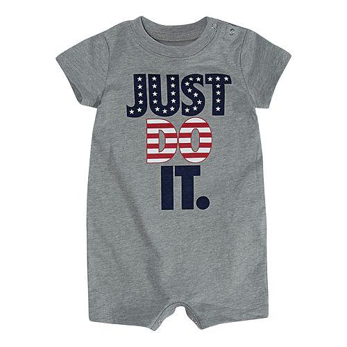 "Baby Boy Nike ""Just Do It."" Patriotic Romper"