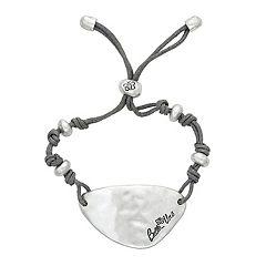 c387e77f7 Womens Bella Uno Silver Cord Adjustable Bracelet