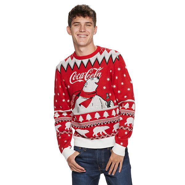 Men S Coca Cola Polar Bear Ugly Christmas Sweater