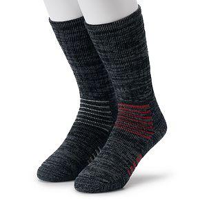 Men's IQ Brands 2-pack Thermolite Wool-Blend Outdoor Crew Socks