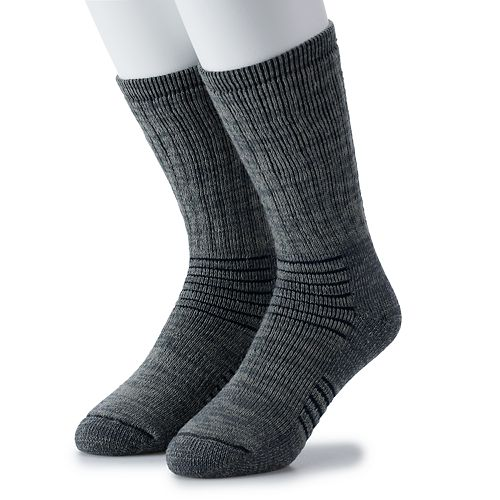 Men's IQ Brands 2-pack Thermolite Wool-Blend Outdoor Crew Socks