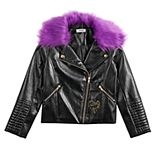 Girls 7-16 Disney's Descendants 3 Mal Moto Jacket with Detachable Faux-Fur Collar