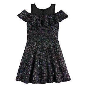 Disney's D-Signed Descendants Girls 7-16 Cold-Shoulder Flounce Dress