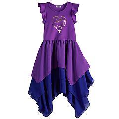 85ef8958 Disney's D-Singed Descendants Girls 7-16 Heart Colorblock Ruffle Dress