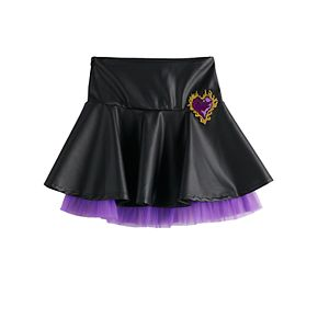 Disney's Descendants 3 Mal Pleather with Tulle Skirt and Embroidered Patch