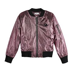 af6a13e04e8 Disney D-Signed Descendants Girls 7-16 Foil Bomber Jacket