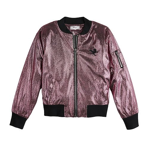 Disney D-Signed Descendants Girls 7-16 Foil Bomber Jacket