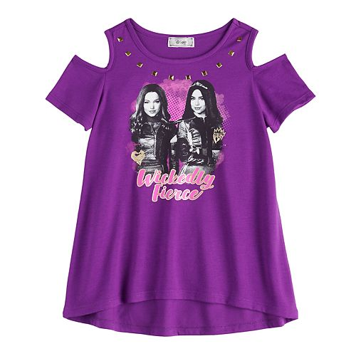 "Disney D-Signed Descendants Girls 7-16 Cold-Shoulder ""Wickedly Fierce"" Graphic Tee"