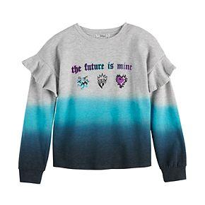 "Disney D-Signed Descendants Girls 7-16 ""The Future is Mine"" Ruffle Sweatshirt"