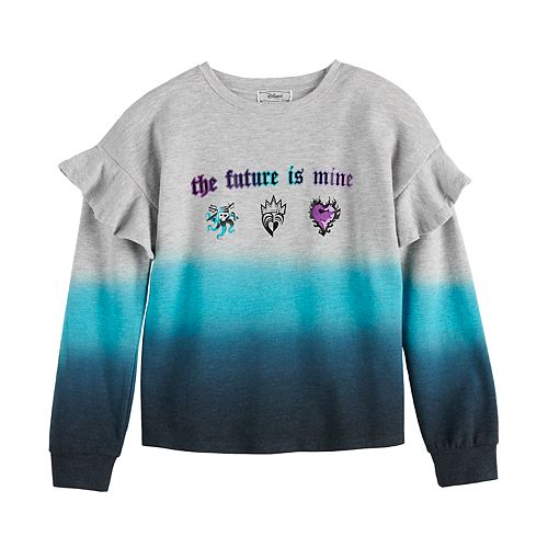 "Disney D-Signed Descendants Girls 7-16 ""The Future is Mine"" Ruffle Sweatshirt"
