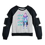 Girls 7-16 Disney's Descendants 3 Audrey Pullover with Cut Out & Studded Sleeves