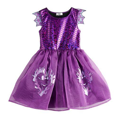 Girls 7-16 Disney Descendants 3 Mal Dragon Dress With Wings