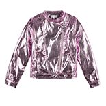 "Disney D-Signed Descendants Girls 7-16 ""Future Queen"" Foil Moto Jacket"